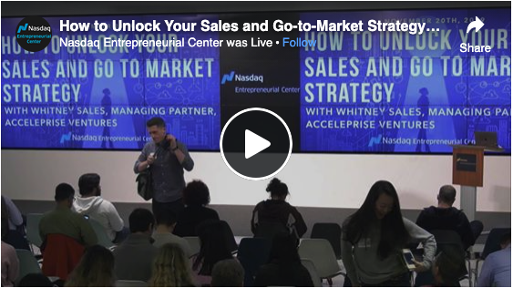 How to Unlock Your Sales and Go-to-Market Strategy with Whitney Sales