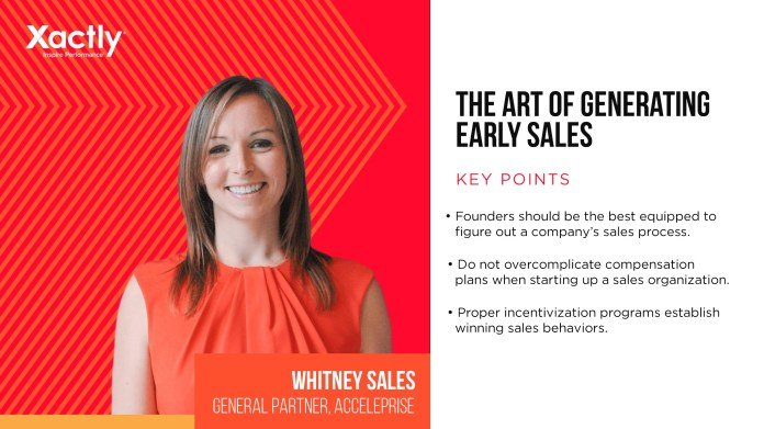 Sales Disruptors: The Art of Generating Early Sales