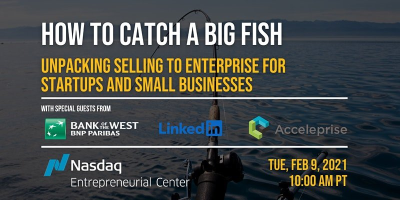 How to Catch A Big Fish: Unpacking Selling to Enterprise for Startups and Small Businesses